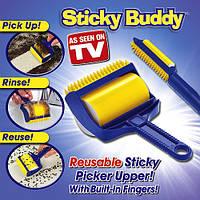 Валик для очистки одежды, мягкой мебели и ковров Sticky Buddy