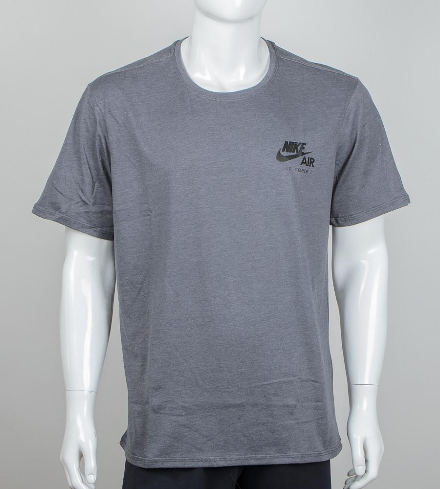 -Р- Футболка мужская батал Nike AIR Средне-серый (М001б), 3XL