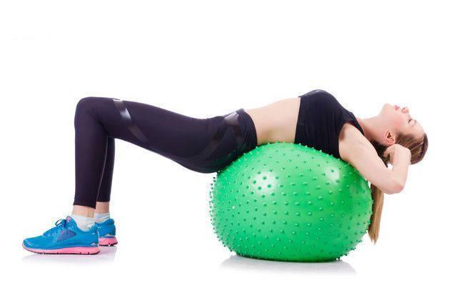 Мяч для фитнеса массажный с шипами 85 см + Насос, фото 2