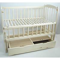 Детская кроватка  Эко Жасмин - 2 Кроватка + Маятник + Ящик, Бук, Натуральная