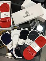 Носки Balenciaga силиконовая пятка разноцветные Носки-сделы мужские женские Баленсиага в коробке