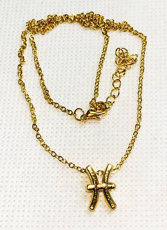 Колье Primo с подвеской знак зодиака  Pisces (Рыбы) - Gold