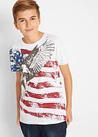 Футболка для мальчика  белая с принтом США Bonprix collection
