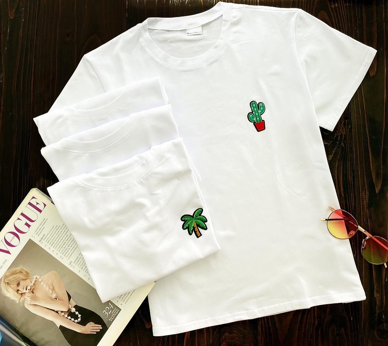 Женская футболка оптом и в розницу L-XL кактус