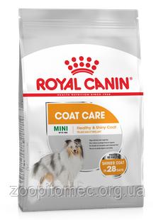 Сухой корм Royal Canin (Роял Канин) MINI COAT CARE для собак мелких пород с тусклой и сухой шерстью,1 кг