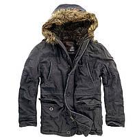 Куртка аляска Brandit Vintage Explorer BLACK L Черный 3120.2-L, КОД: 1212622