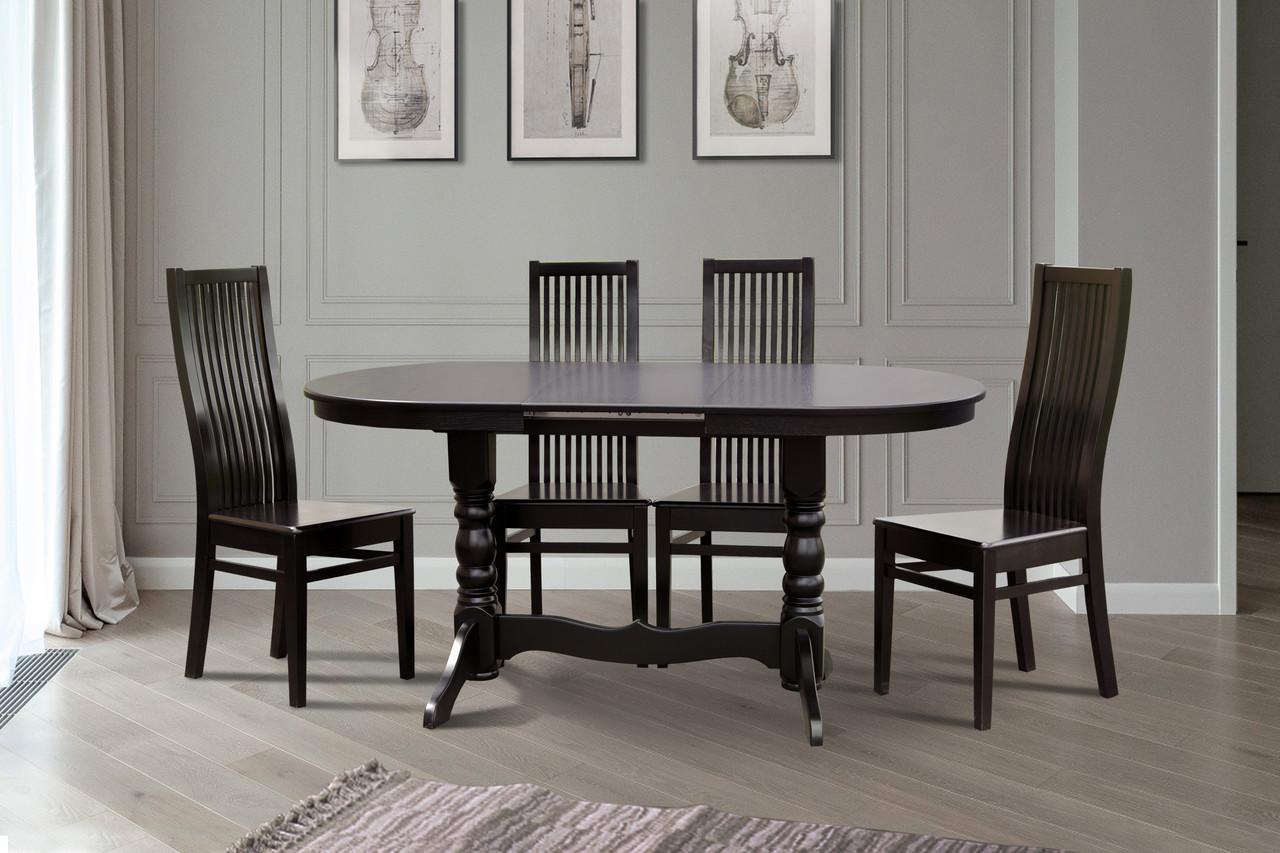 Розкладний стіл Говерла-2 (темний горіх, венге) 120*80см