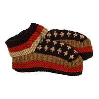 Тапочки носки Жанэ Kathmandu М 25 Коричневый с красным 24887, КОД: 1597289