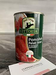 Томати у власному соку Vittoria pomodori Pelati Interi 400 гр