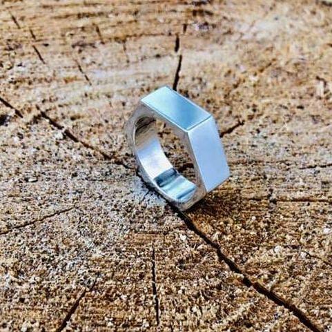 """Серебряное кольцо """"Гайка"""""""