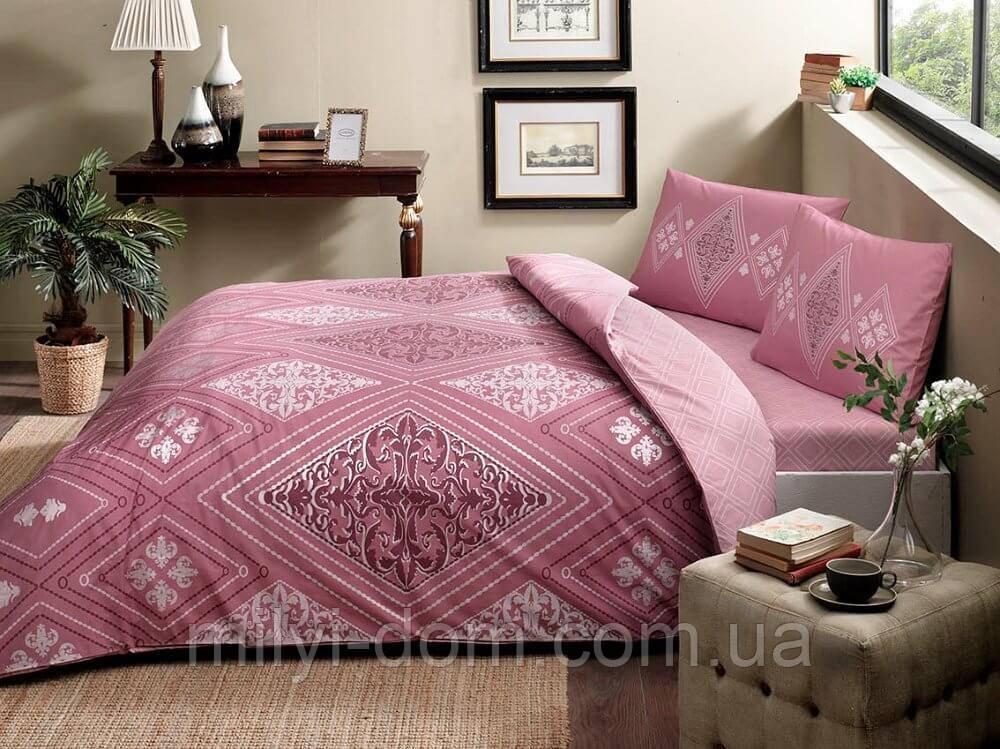 Набор постельного белья TAC Silvia Pink (полуторный)