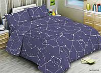 Комплект постельного белья ранфорс Marcel 20-123 Синее созвездие Полуторный комплект Двуспальный комплект