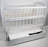 Детская кроватка  Babymax Луна Кроватка + Маятник + Ящик, Осина, Белая
