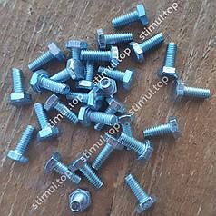 Din 933 Болт полная резьба 4х10 мм / 1000 штук в упаковке / Болт з повною різьбою / Болты оцинкованные 5.8 кл