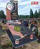 Памятник комбинированный с цветным портретом