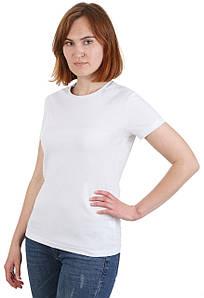 Футболка женская однотонная белая из хлопка BR-S р. L (1205765005)