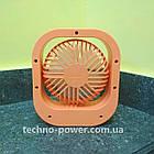Настольный мини вентилятор портативный DianDi Square. Вентилятор аккумуляторный 2 скорости, фото 6