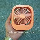 Настольный мини вентилятор портативный DianDi Square. Вентилятор аккумуляторный 2 скорости, фото 3