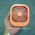 Вентилятор портативный DianDi Square настольный. Вентилятор аккумуляторный 2 скорости, фото 3