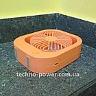 Настольный мини вентилятор портативный DianDi Square. Вентилятор аккумуляторный 2 скорости, фото 7