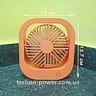Вентилятор портативный DianDi Square настольный. Вентилятор аккумуляторный 2 скорости, фото 5