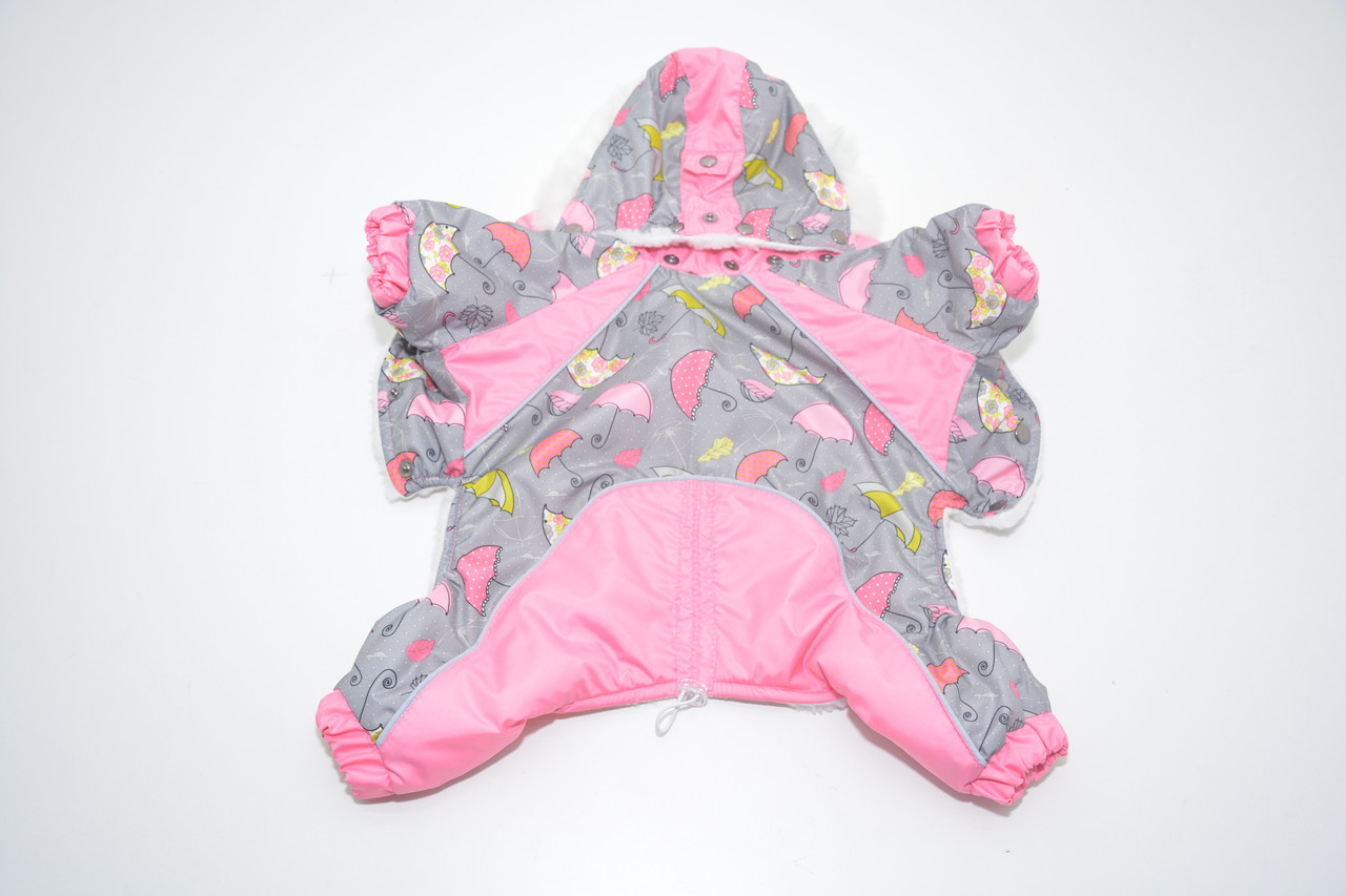 Комбинезон для собак Фантазия с капюшоном розовый бэби 18х22
