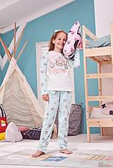"""ОПТОМ Пижама кофта и штаны """"Карета"""" для девочки 4-5 лет (4-5 лет)  Donella 8697840444471"""