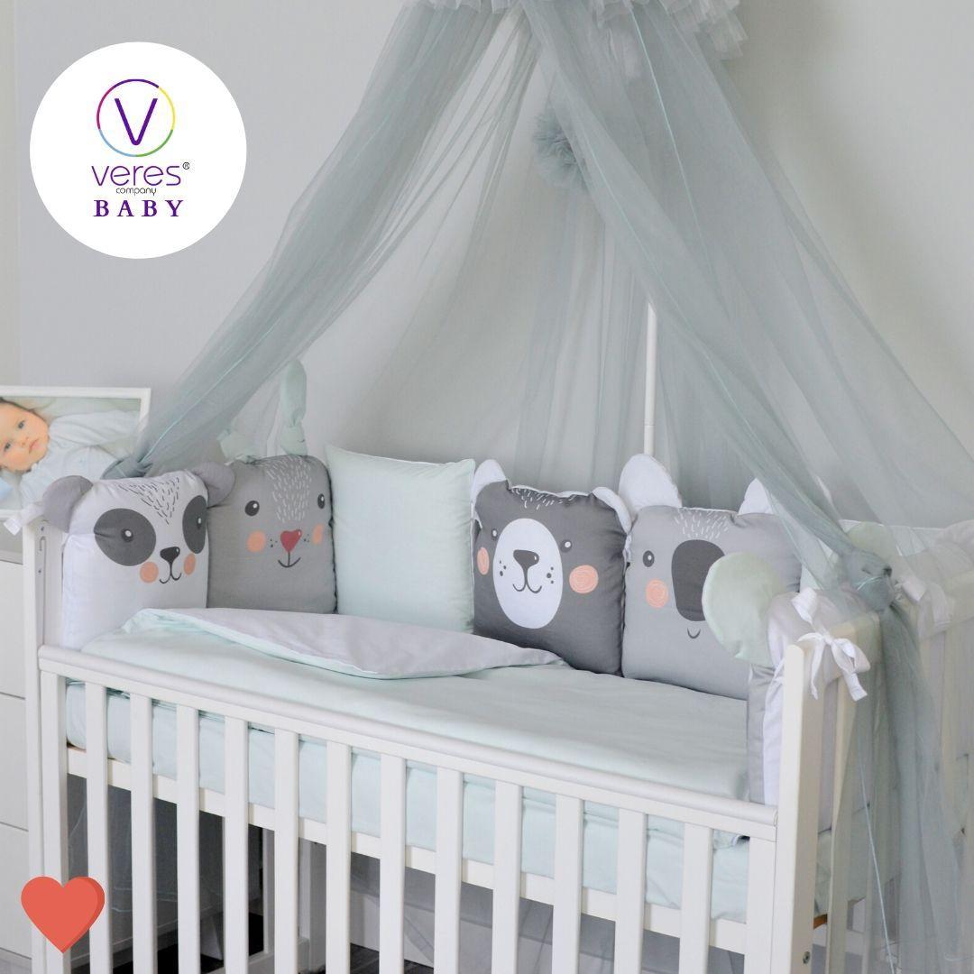 Постельный комплект для новорожденных Baby Veres Zoo mint
