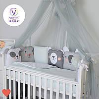 Постельный комплект для новорожденных Baby Veres Zoo mint, фото 1