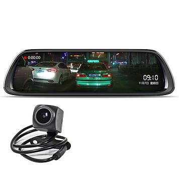 Дзеркало відеореєстратор 10 Lesko Car K62 з камерою заднього виду (3444-9949)