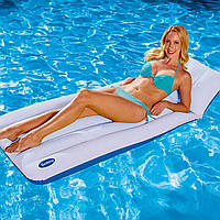 Надувной матрас для плавания (с подголовником, одноместный, с подголовником) Белый 183x71 см