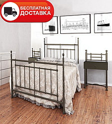 Односпальне ліжко Неаполь 90*200 «Метал-Дизайн»