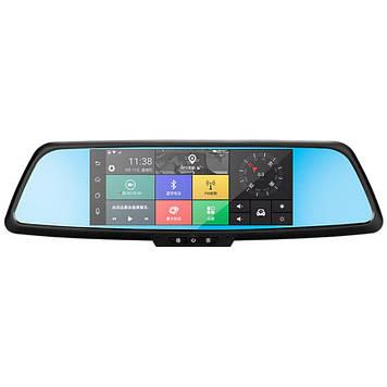 Дзеркало відеореєстратор 7 Lesko Car H9 Android GPS + камера заднього виду (2597-7010)