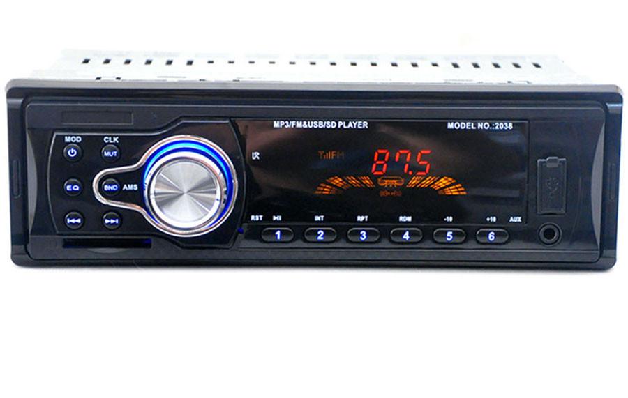 Автомагнитола MP3-2038 Car Audio Стерео MP3-плеер Черный (n-603)