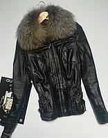 Курточка жіноча Fabio Monti розмір L шкіра.