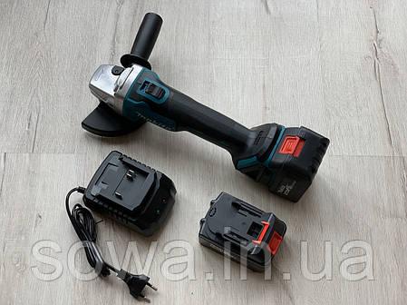 Болгарка акумуляторна безщіткова Makita DGA554 / 18V, фото 2