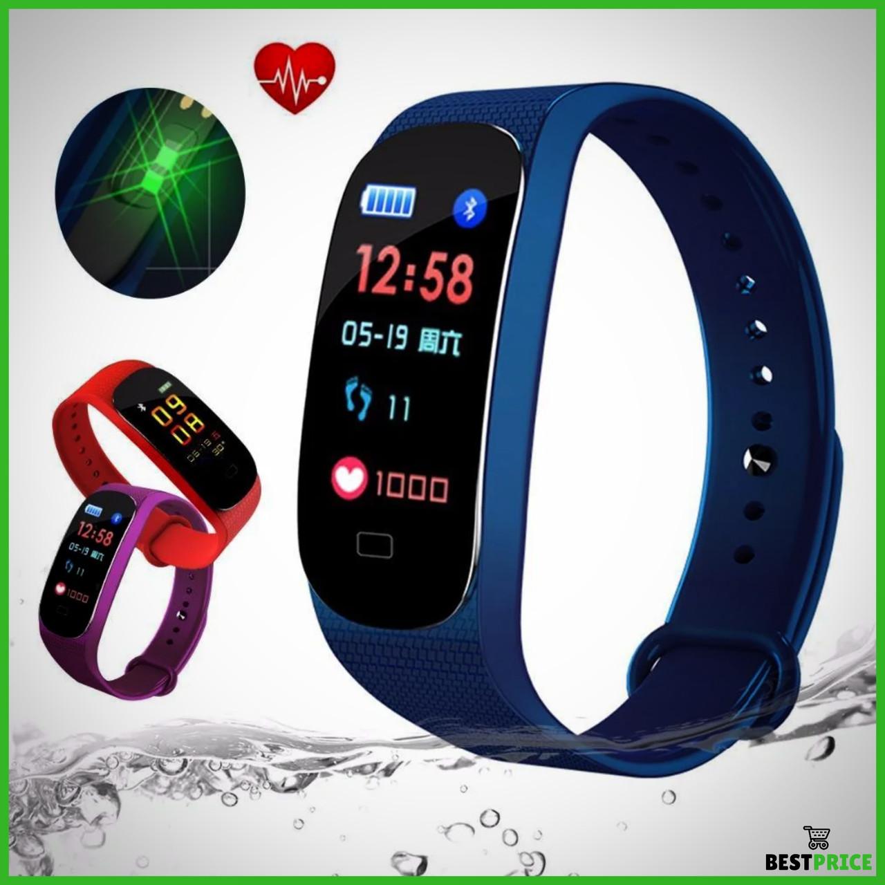 Фитнес браслет M5 Band Smart Watch Bluetooth 4.2, шагомер, фитнес трекер, пульс, монитор сна (Люкс копия )