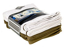 Набор полотенец OEKO-TEX 4 штуки 50х100 см Белый с кофейным M17-770002, КОД: 1760613