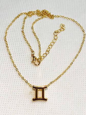 Колье Primo с подвеской знак зодиака Gemini (Близнецы) - Gold