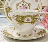 Английская фарфоровая чайная тройка, чашка, блюдце тарелка, костяной фарфор Англия, Duches, фото 2