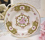 Английская фарфоровая чайная тройка, чашка, блюдце тарелка, костяной фарфор Англия, Duches, фото 4