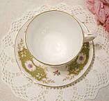 Английская фарфоровая чайная тройка, чашка, блюдце тарелка, костяной фарфор Англия, Duches, фото 5