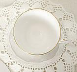 Английская фарфоровая чайная тройка, чашка, блюдце тарелка, костяной фарфор Англия, Duches, фото 6