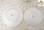 Английская фарфоровая чайная тройка, чашка, блюдце тарелка, костяной фарфор Англия, Duches, фото 7