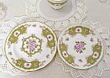 Английская фарфоровая чайная тройка, чашка, блюдце тарелка, костяной фарфор Англия, Duches, фото 8