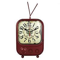 Настольные часы Антик TV 22,5х15,7х6 см Темно-красный 20805, КОД: 1388515
