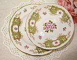 Английская фарфоровая чайная тройка, чашка, блюдце тарелка, костяной фарфор Англия, Duches, фото 10