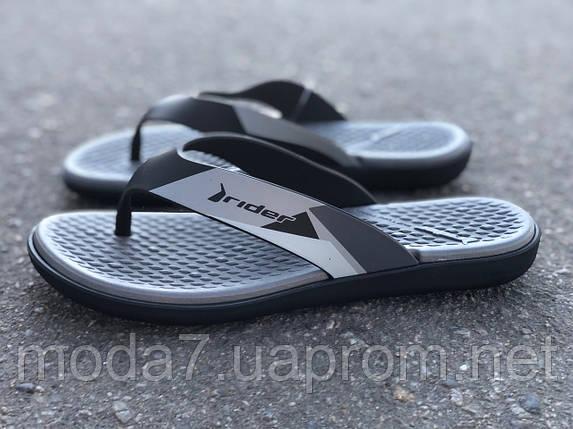 Вьетнамки RIDER Aqua Fem 82568 Black/Grey, фото 2
