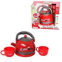 Игровой набор Чайник 15 см чашки звук свет TB008-920, КОД: 914966
