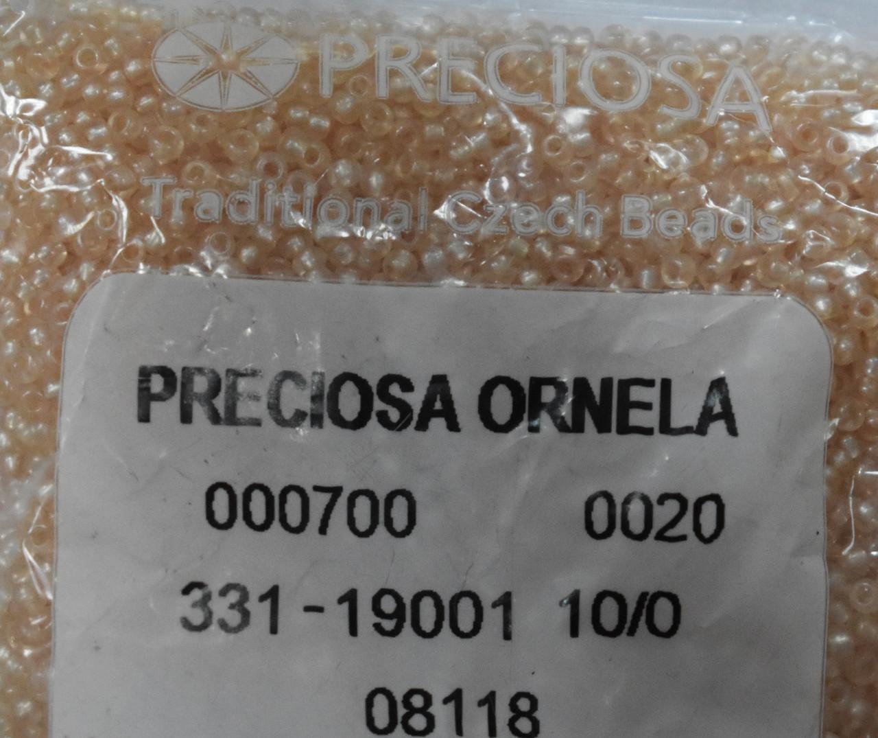 Бісер Preciosa 10/0 колір 08118 персиковий 10г